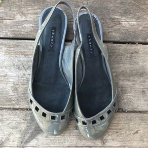 Theory Shoes - Theory NWOT glossy Sling Back Patent Leather Flats